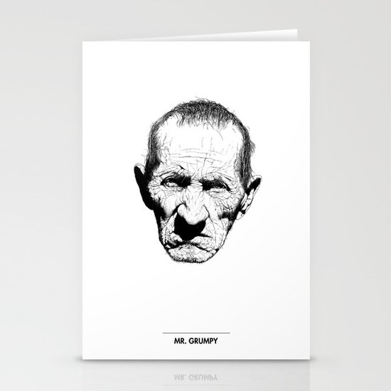 Mr. Grumpy Stationery Card