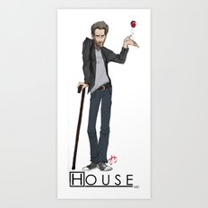 House Hugh Laurie Illustration Art Print