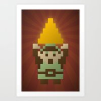 Zelda - Link Triforce Art Print