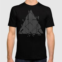 PLACE Triangle V2 Mens Fitted Tee Black SMALL