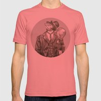 In Which A Dapper Fish I… Mens Fitted Tee Pomegranate SMALL