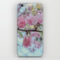 Soft Pink Cherry Blossom Flowers iPhone & iPod Skin