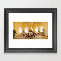 Bass Mansion Framed Art Print