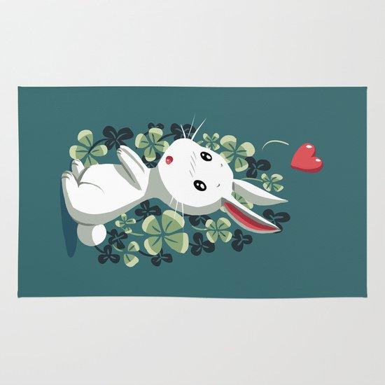 Clover Bunny Area & Throw Rug