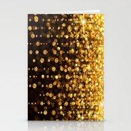 Golden Glitter Stationery Cards