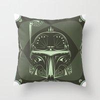 Boba Fett On Acid Throw Pillow