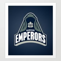 DarkSide Emperors -Blue Art Print