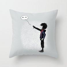 Boy with Robot Throw Pillow