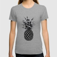 Pineapple Womens Fitted Tee Tri-Grey SMALL