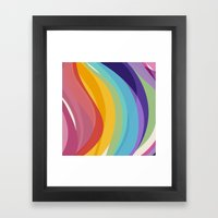Fig. 045 Colorful Swirls Framed Art Print