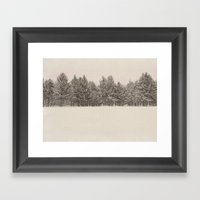 Snowfall Framed Art Print