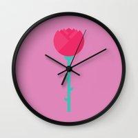 #88 Rose Wall Clock