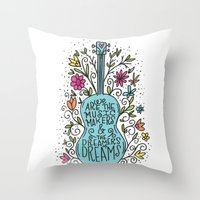 Music Makers Throw Pillow