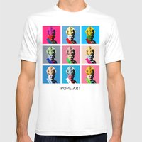 Pope Art Mens Fitted Tee White SMALL