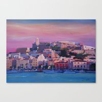 Ibiza Eivissa Old Town A… Canvas Print