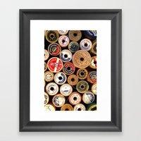 Vintage Sewing Thread Sp… Framed Art Print