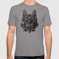 Century Owl Mens Fitted Tee Tri-Grey SMALL