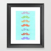 MOUSTACHE Framed Art Print