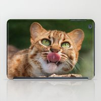 RUSTY SPOTTED CAT LICK iPad Case