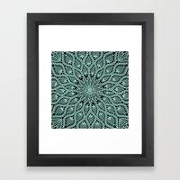 Delicate Teal Framed Art Print