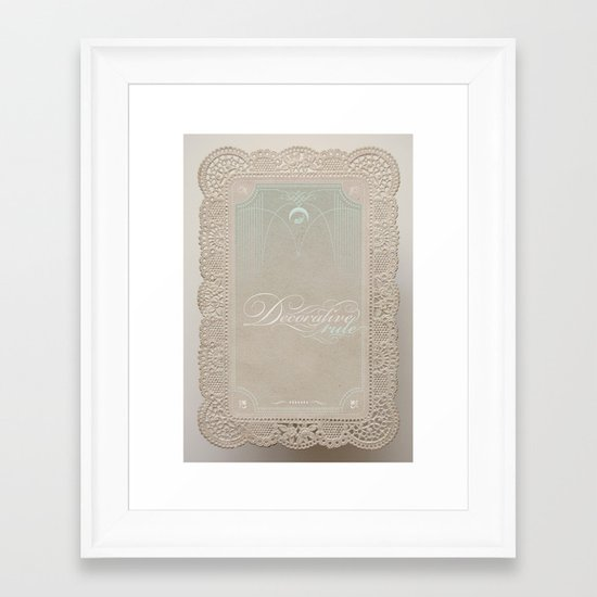 Decorative Rule Framed Art Print
