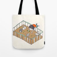 feeding the bunnies Tote Bag