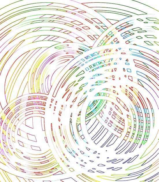 Tracing lazy circles in the sky Art Print