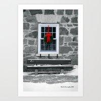 Winter Window Art Print
