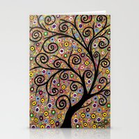 Abstract tree-11 Stationery Cards