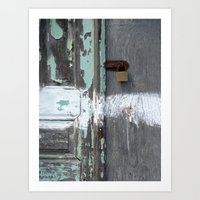 Hidden Within Santorini,… Art Print