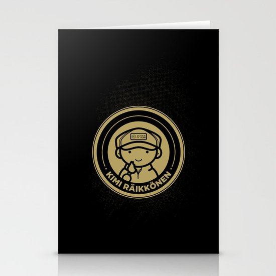 Chibi Kimi Raikkonen - Lotus F1 Team Stationery Card