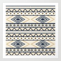aztec Art Prints featuring AZTEC by Oksana Smith
