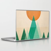 mountains Laptop & iPad Skins featuring No mountains high enough by Picomodi