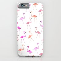 iPhone & iPod Case featuring FLAMINGoS by Monika Strigel