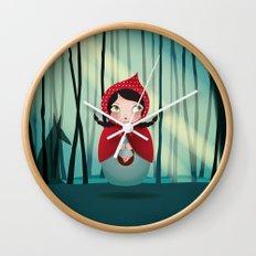 Riding Hood - Kokeshi Wall Clock