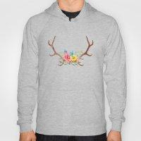 Floral Antlers Hoody