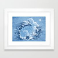 Snow Bunny Framed Art Print