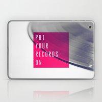 Records - Pink Laptop & iPad Skin