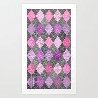 Magic Argyle Quilt Art Print