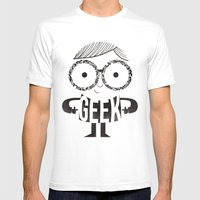 GEEK Mens Fitted Tee White SMALL