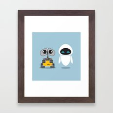 Wall-E and Eve Framed Art Print