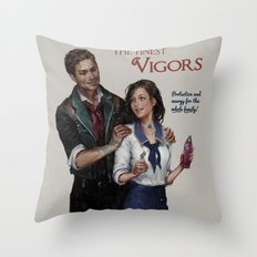 Bioshock Infinite Vigor Poster Throw Pillow