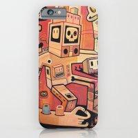 iPhone & iPod Case featuring Esclaves des robots... nous serons   by Exit Man
