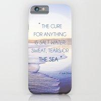 Salt Water Quote, Ocean Photography iPhone 6 Slim Case