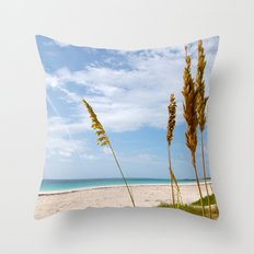 Mark Your Piece of Paradise Throw Pillow