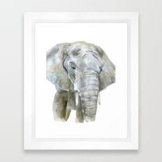 Elephant Watercolor Painting - African Animal Framed Art Print