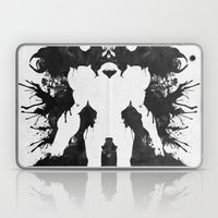 Samus Aran Metroid Geek Psychological Diagnosis Ink Blot  Laptop & iPad Skin