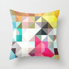 color story - pixelated warfare Throw Pillow