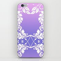 Leaves on Rose Powder iPhone & iPod Skin