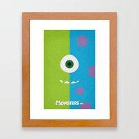 Monsters - Minimalist Po… Framed Art Print